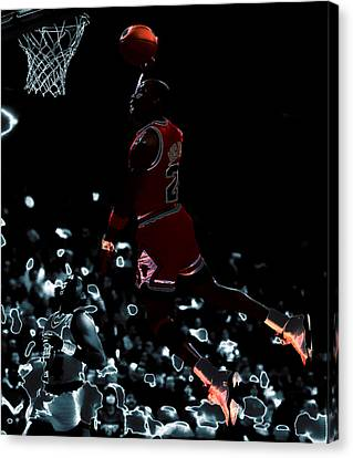Air Jordan 03t Canvas Print by Brian Reaves