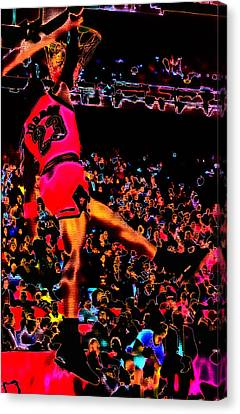 Jordan Canvas Print - Air Jordan 04 by Brian Reaves