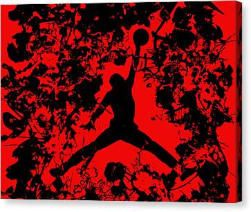 Air Jordan 1b Canvas Print by Brian Reaves