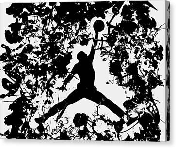 Air Jordan 1c Canvas Print by Brian Reaves