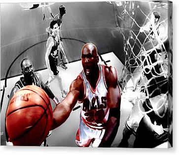 Air Jordan 5g Canvas Print by Brian Reaves