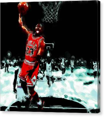 Air Jordan Break Away Canvas Print by Brian Reaves
