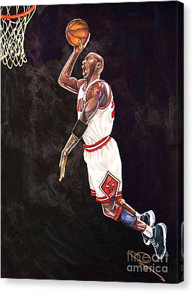Air Jordan Canvas Print - Air Jordan by Dave Olsen