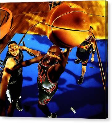 Jordan Canvas Print - Air Jordan Finger Roll by Brian Reaves