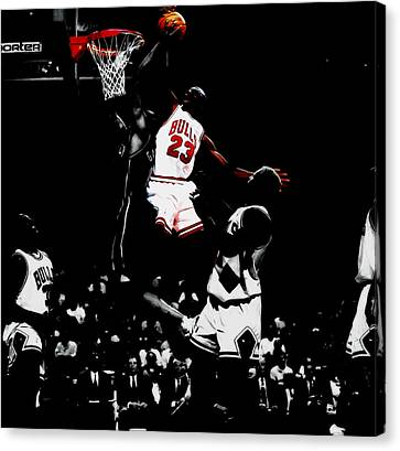 Ewing Canvas Print - Air Jordan Gimme Dat by Brian Reaves