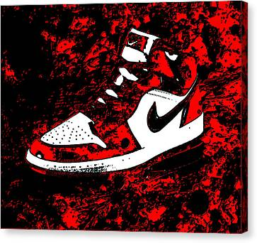 Air Jordan I Notorious Canvas Print by Brian Reaves