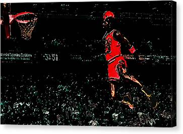 Air Jordan In Flight 3g Canvas Print by Brian Reaves