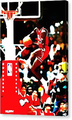 Air Jordan In Flight 5b Canvas Print