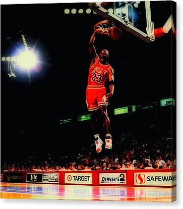Jordan Canvas Print - Air Jordan Nasty Slam by Brian Reaves