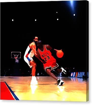 Air Jordan Shake Em Off Canvas Print