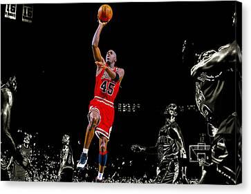 Jordan Canvas Print - Soaring Bull by Brian Reaves