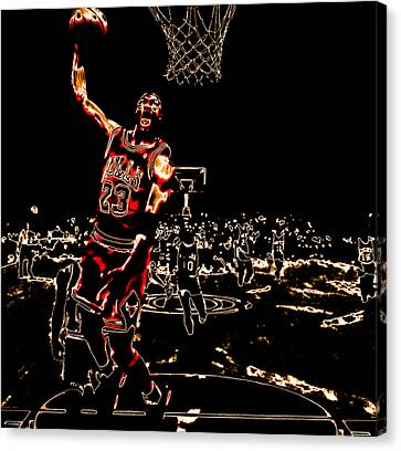 Air Jordan Thermal Canvas Print by Brian Reaves