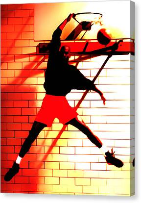 Air Jordan Where It All Started Canvas Print by Brian Reaves