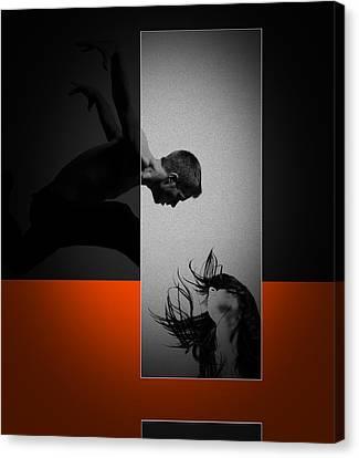 Air Kiss Canvas Print by Naxart Studio