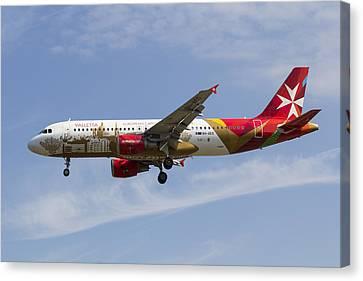 Air Malta Airbus A320 Canvas Print
