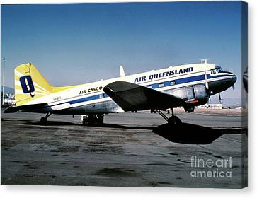 Fixed Wing Multi Engine Canvas Print - Air Queensland Douglas C-47a-20-dk, Vh-bpl by Wernher Krutein