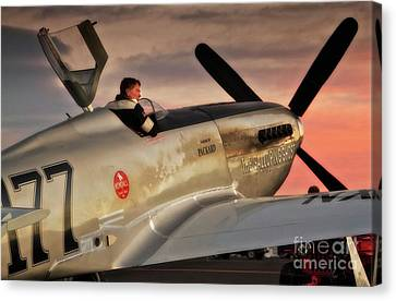 'air Racing Legends Jimmy Leeward And  The Galloping Ghost' Canvas Print by Gus McCrea