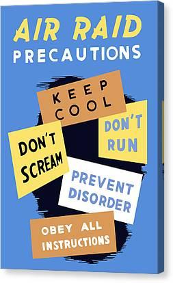 Air Raid Precautions - Ww2 Canvas Print