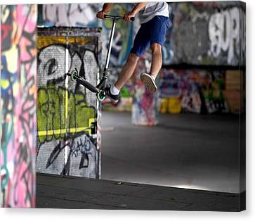 Airborne At Southbank Canvas Print