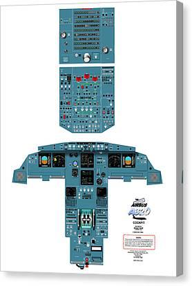Airbus A320 Cockpit Canvas Print