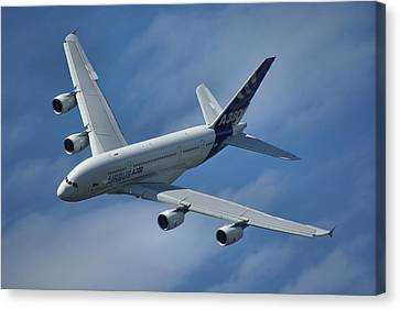 Airbus A380 Canvas Print by Tim Beach