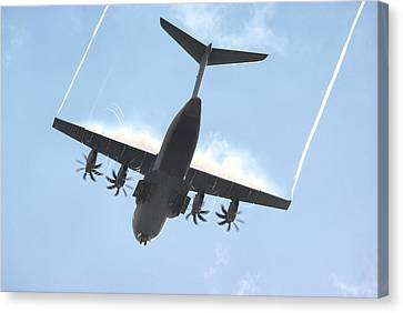 Airbus A400m Canvas Print by Tim Beach