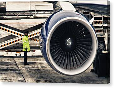 Airbus Engine Canvas Print by Stelios Kleanthous