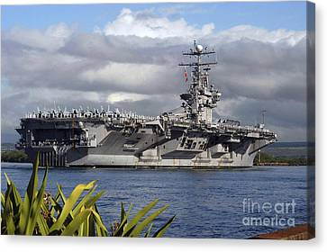 Aircraft Carrier Uss Abraham Lincoln Canvas Print by Stocktrek Images