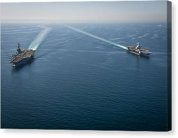 aircraft carrier USS Carl Vinson Canvas Print by Celestial Images