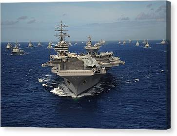 Aircraft Carrier Uss Ronald Reagan Canvas Print by Everett