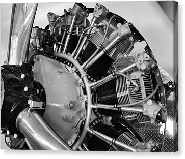 Aircraft Engine Canvas Print by Ludwig Keck