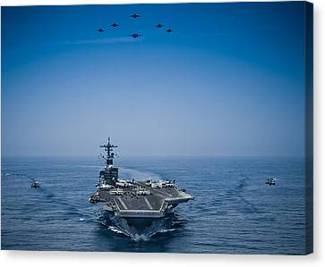 Aircraft From Carrier Air Wing Canvas Print