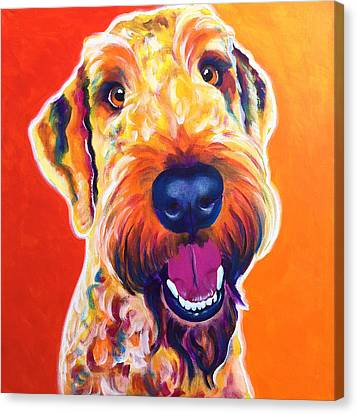 Airedoodle - Hank Canvas Print