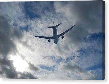 Airliner 01 Canvas Print by Mark Alan Perry