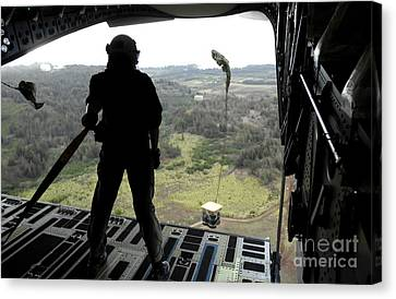 Airman Watches A Practice Bundle Fall Canvas Print by Stocktrek Images
