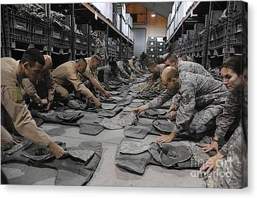 Kyrgyzstan Canvas Print - Airmen Inspect Their Improved Outer by Stocktrek Images