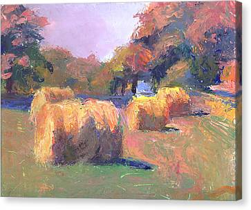 Airmont Hay Bales Morning Canvas Print