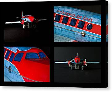 Airplane Collage Canvas Print by Rudy Umans