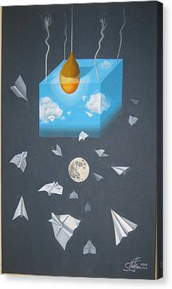 Airplanes Day And Night Canvas Print by Predrag Radovanovic