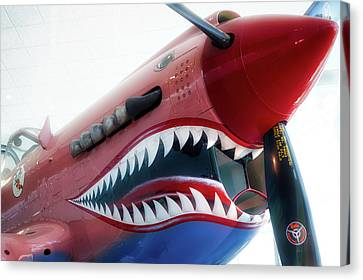 Airplanes Flying Tigers Propeller Canvas Print by Thomas Woolworth