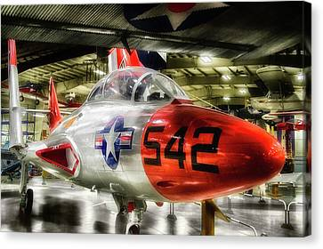 Airplanes Military Jet Pa 06 Canvas Print by Thomas Woolworth