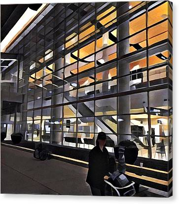 Airport 1.30am Canvas Print