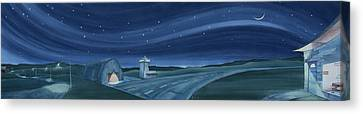 Canvas Print featuring the painting Airport Cafe Vi by Scott Kirby