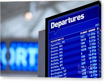 Airport Departure Board Canvas Print