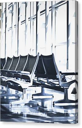 Airport Departure Seating Canvas Print