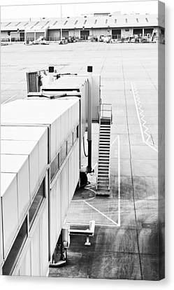 Airport Walkway Canvas Print by Tom Gowanlock