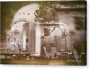 Airstream Double Canvas Print by Susan Grube