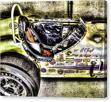 Aj Foyt 1961 Cockpit Canvas Print
