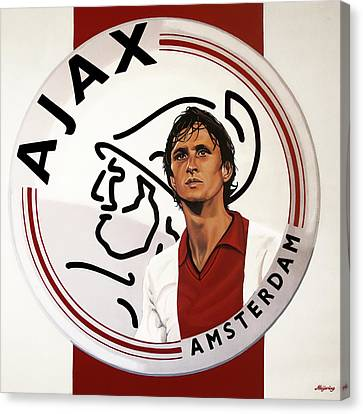 Ajax Amsterdam Painting Canvas Print by Paul Meijering