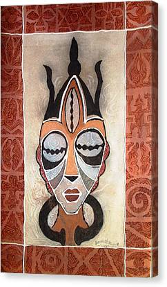 Aje Mask Canvas Print
